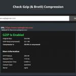 GZIP compression online checker